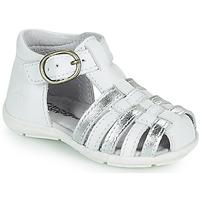 Čevlji  Deklice Sandali & Odprti čevlji Citrouille et Compagnie RINE Bela / Srebrna