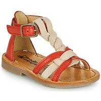 Čevlji  Deklice Sandali & Odprti čevlji Citrouille et Compagnie GITANOLO Koralna / Rožnata