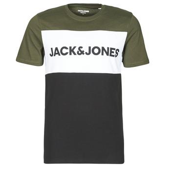 Oblačila Moški Majice s kratkimi rokavi Jack & Jones JJELOGO Kaki