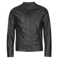 Oblačila Moški Usnjene jakne & Sintetične jakne Jack & Jones JJEWARNER Črna
