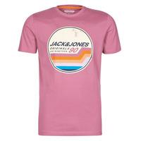 Oblačila Moški Majice s kratkimi rokavi Jack & Jones JORTYLER Rožnata