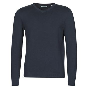 Oblačila Moški Puloverji Jack & Jones JJEBASIC Modra
