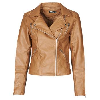 Oblačila Ženske Usnjene jakne & Sintetične jakne Only ONLGEMMA Cognac