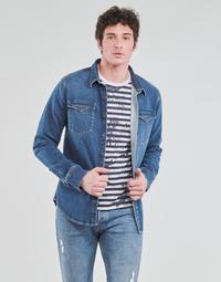 Oblačila Moški Srajce z dolgimi rokavi Yurban OPUCI Modra