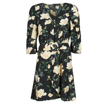 Oblačila Ženske Kratke obleke Only ONLEVE 3/4 SLEEVE SHORT DRESS WVN Črna