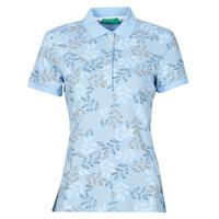 Oblačila Ženske Polo majice kratki rokavi Benetton CHOLU Modra