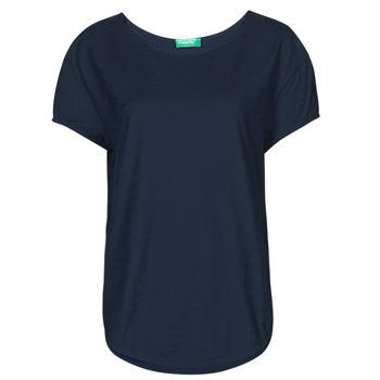 Oblačila Ženske Majice s kratkimi rokavi Benetton FOLLIA Modra