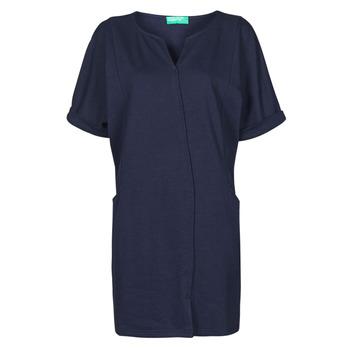 Oblačila Ženske Kratke obleke Benetton CAMILA Modra