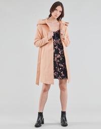 Oblačila Ženske Plašči Vero Moda VMCALALYON HOOD 3/4 JACKET GA Rožnata