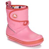 Čevlji  Otroci Škornji za sneg Crocs CROCBAND ll.5 GUST BOOT KIDS PLEM PPY Rožnata