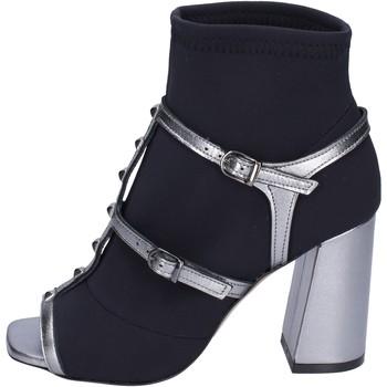 Čevlji  Ženske Gležnjarji Stephen Good Stivaletti Tessuto Pelle Nero