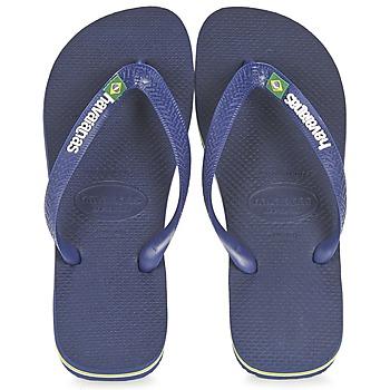 Čevlji  Japonke Havaianas BRASIL LOGO Modra