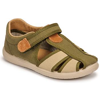 Čevlji  Dečki Sandali & Odprti čevlji Citrouille et Compagnie GUNCAL Kaki