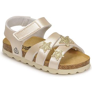 Čevlji  Deklice Sandali & Odprti čevlji Citrouille et Compagnie OKILIA Pozlačena