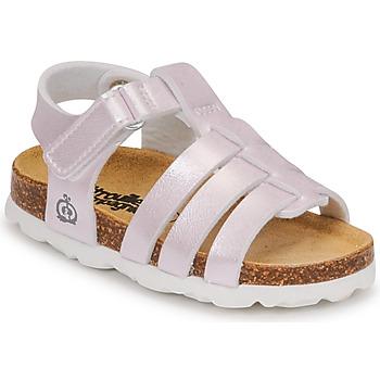 Čevlji  Deklice Sandali & Odprti čevlji Citrouille et Compagnie MALIA Champagne