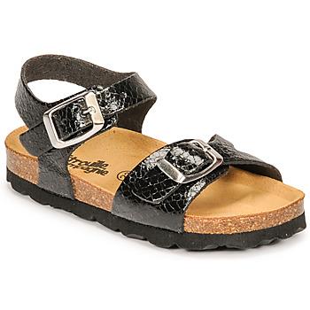 Čevlji  Deklice Sandali & Odprti čevlji Citrouille et Compagnie RELUNE Črna / Snake