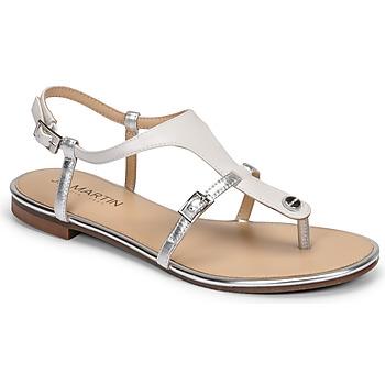 Čevlji  Ženske Sandali & Odprti čevlji JB Martin GAELIA E20 Bela / Srebrna