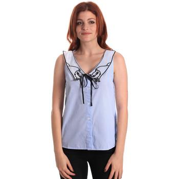Oblačila Ženske Topi & Bluze Fornarina SE174576CA1218 Modra