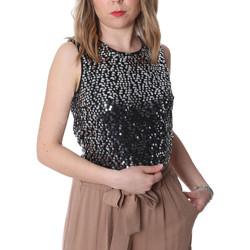 Oblačila Ženske Topi & Bluze Fracomina FR20SP634 Črna