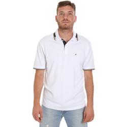 Oblačila Moški Polo majice kratki rokavi Les Copains 9U9021 Biely