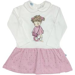 Oblačila Deklice Kratke obleke Melby 20A0011 Biely