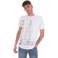 Oblačila Moški Majice s kratkimi rokavi Navigare NV31109 Biely
