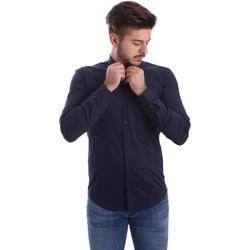 Oblačila Moški Srajce z dolgimi rokavi Automatic CAU22400 Modra