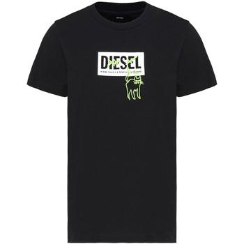 Oblačila Ženske Majice s kratkimi rokavi Diesel A00255 0HERA Črna