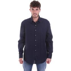 Oblačila Moški Srajce z dolgimi rokavi Calvin Klein Jeans K10K106040 Modra