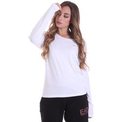 Oblačila Ženske Majice z dolgimi rokavi Ea7 Emporio Armani 6HTT04 TJ28Z Biely