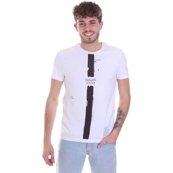 Oblačila Moški Majice s kratkimi rokavi Gaudi 021GU64035 Biely