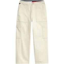 Oblačila Ženske Hlače cargo Tommy Jeans DW0DW08326 Bež