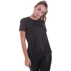 Oblačila Ženske Majice s kratkimi rokavi Freddy F0WALT2 Črna