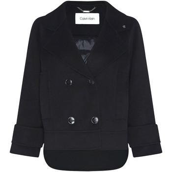 Oblačila Ženske Plašči Calvin Klein Jeans K20K202461 Črna