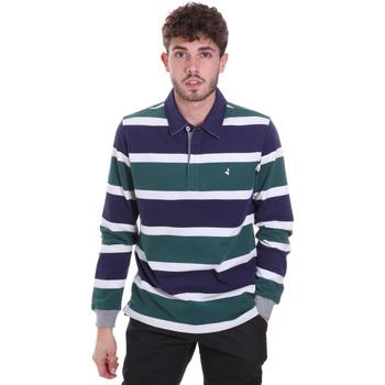 Oblačila Moški Polo majice dolgi rokavi Navigare NV30026 Modra