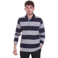 Oblačila Moški Polo majice dolgi rokavi Navigare NV30029 Modra