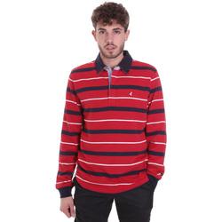 Oblačila Moški Polo majice dolgi rokavi Navigare NV30030 Rdeča