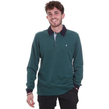 Oblačila Moški Polo majice dolgi rokavi Navigare NV32023 Zelena