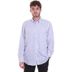 Oblačila Moški Srajce z dolgimi rokavi Navigare NV91111 BD Modra
