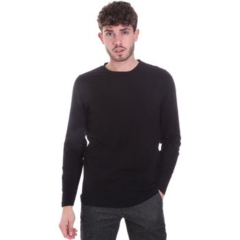 Oblačila Moški Majice z dolgimi rokavi Sseinse MI1691SS Črna