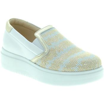 Čevlji  Ženske Slips on Exton E02 Biely