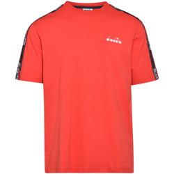 Oblačila Moški Majice s kratkimi rokavi Diadora 502176429 Rdeča