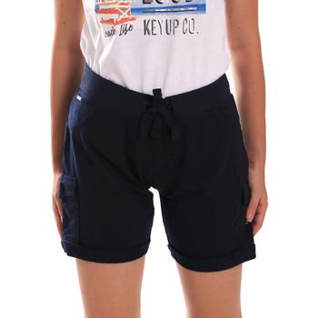 Oblačila Ženske Kratke hlače & Bermuda Key Up 5G75F 0001 Modra