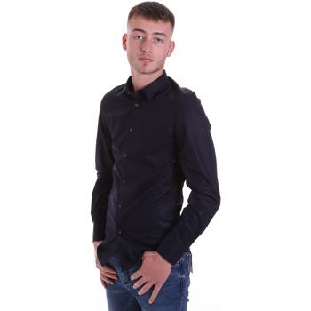 Oblačila Moški Srajce z dolgimi rokavi Antony Morato MMSL00628 FA400079 Modra