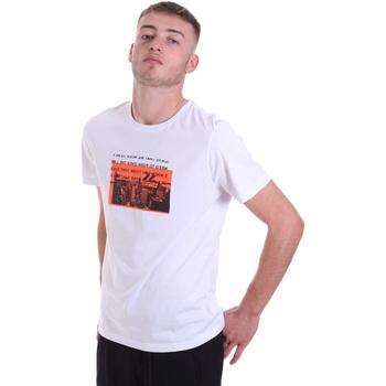 Oblačila Moški Majice s kratkimi rokavi Antony Morato MMKS01880 FA100144 Biely
