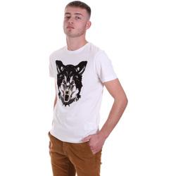 Oblačila Moški Majice s kratkimi rokavi Antony Morato MMKS01878 FA100144 Biely