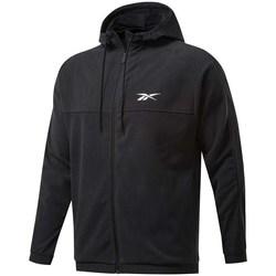 Oblačila Moški Puloverji Reebok Sport Workout Ready Fleece Full Zip Hoodie Črna