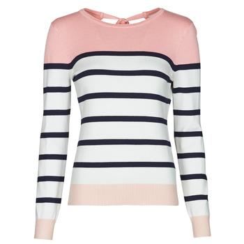 Oblačila Ženske Puloverji Betty London ORALI Rožnata / Kremno bela