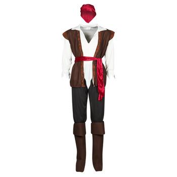 Oblačila Moški Kostumi Fun Costumes COSTUME ADULTE PIRATE THUNDER Večbarvna