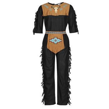 Oblačila Moški Kostumi Fun Costumes COSTUME ADULTE INDIENNE SHE-WOLF Večbarvna
